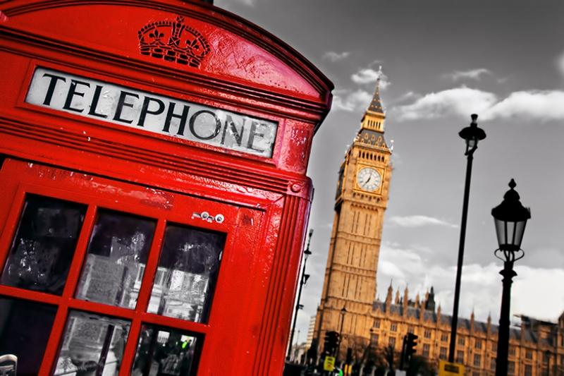 Londra Telefon Klubesi Dünyaca Ünlü Şehirler Kanvas Tablo