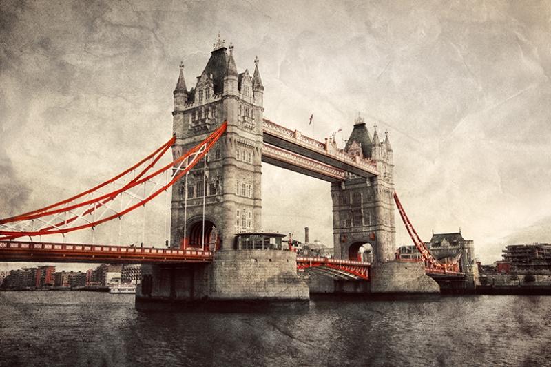 Londra Tower Köprüsü Dünyaca Ünlü Şehirler Kanvas Tablo