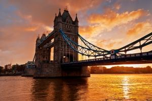 Londra Tower Köprüsü Gün Batımı 3 Dünyaca Ünlü Şehirler Kanvas Tablo