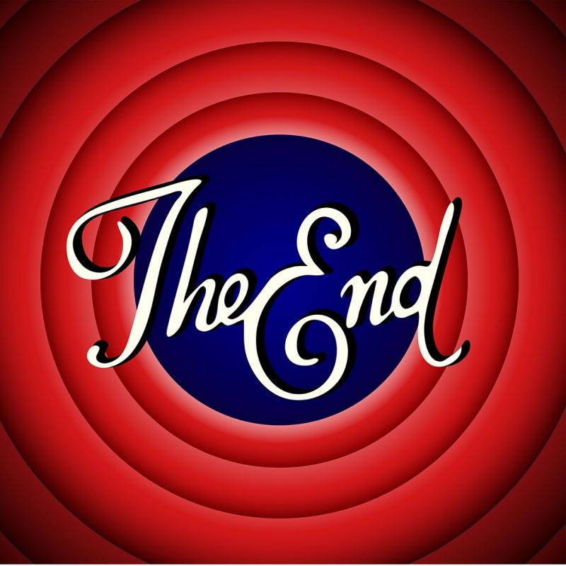 looney Tunes The End Retro & Motto Kanvas Tablo