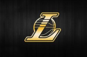 Los Angeles Lakers Nba Logo Background Gold Kanvas Tablo