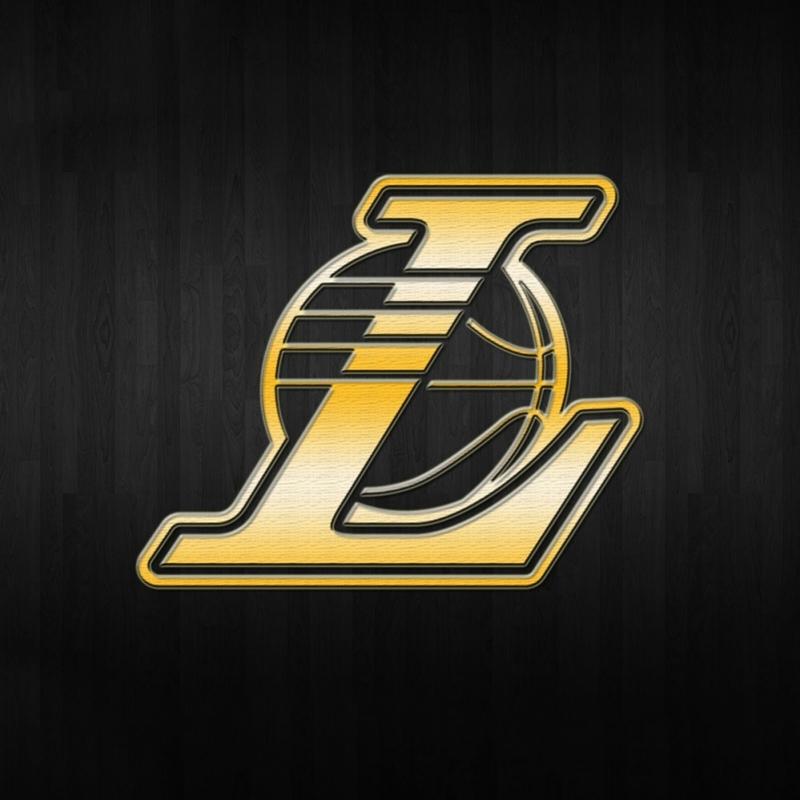 Los Angeles Lakers Nba Logo Background Gold Kare Kanvas Tablo