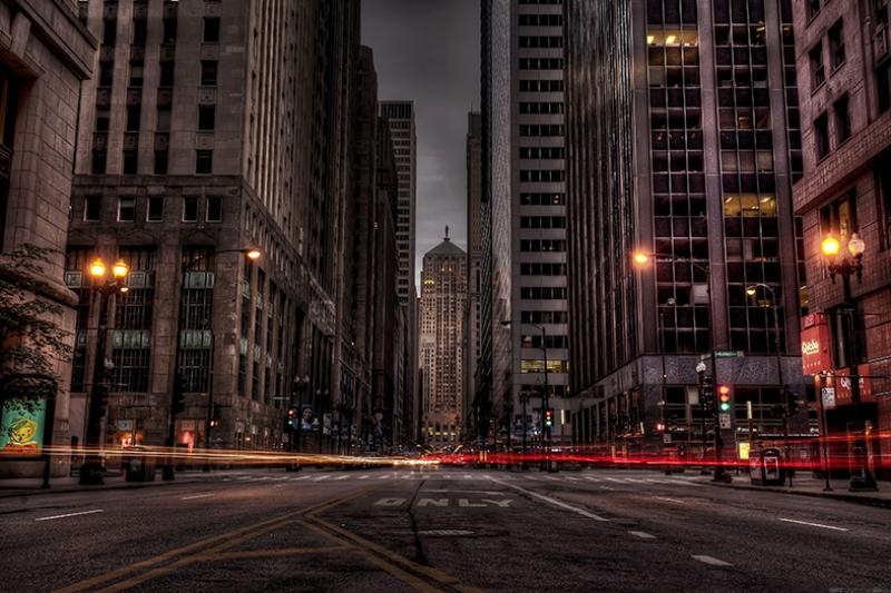 Los Angeles Sokakları Dünyaca Ünlü Şehirler Kanvas Tablo
