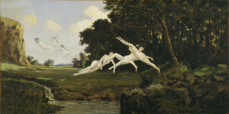 Louis Michel Eilshemius Ogle Ruzgari Yagli Boya Klasik Sanat Kanvas Tablo