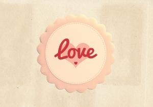 Love İllustrasyon Retro & Motto Kanvas Tablo