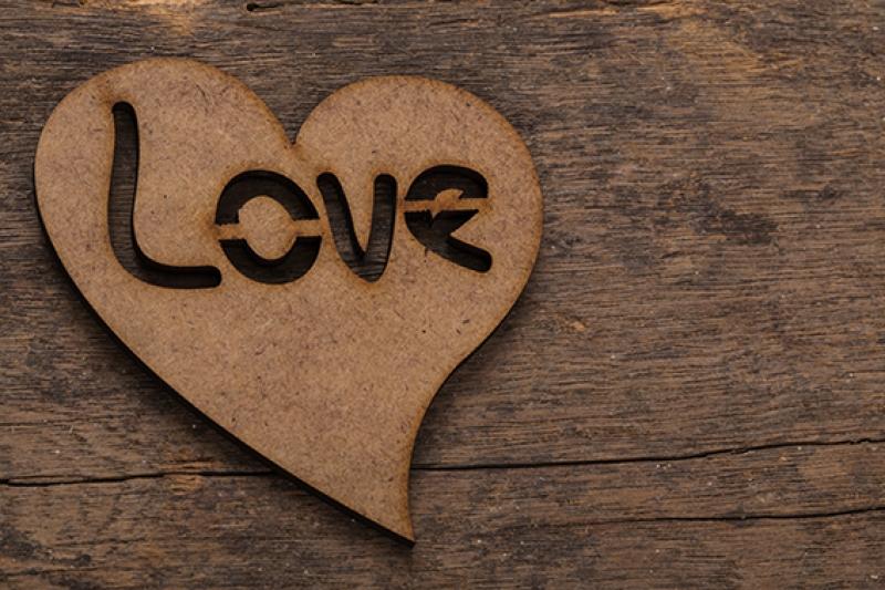 Love Tahta Ahşap Desen Aşk & Sevgi Kanvas Tablo