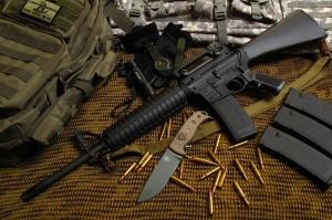 M16 Askeri Kanvas Tablo