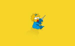 Maggie Simpson Çizgi Karakter Popüler Kültür Kanvas Tablo