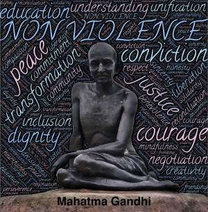 Mahatma Gandhi Popüler Kültür Kanvas Tablo