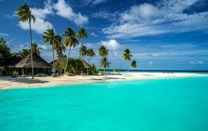Maldivler Hint Denizi Doğa Manzaraları Kanvas Tablo