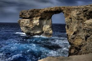 Malta Kıyıları Doğa Manzaraları Kanvas Tablo