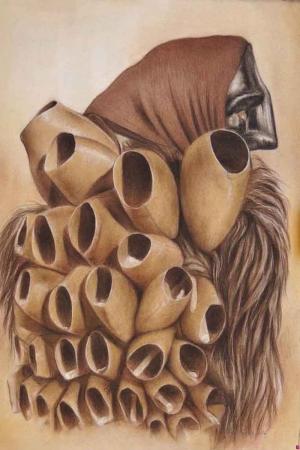 Mamut Kemikleri Abstract Kanvas TAT0103ablo