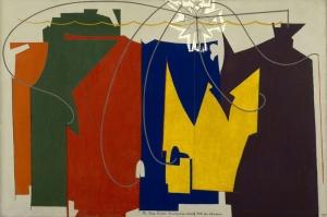Man Ray Ip Danscisi Kendisine Eslik Eden Golgesiyle Yagli Boya Klasik Sanat Kanvas Tablo