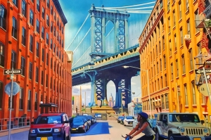 Manhattan Köprüsü Washington Amerika Şehir Manzarası Kanvas Tablo