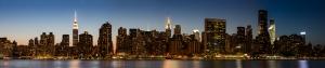 Manhattan Panaromik Dünyaca Ünlü Şehirler Kanvas Tablo