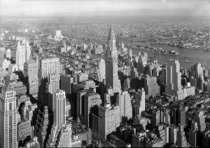 Manhattan Siyah Beyaz Dünyaca Ünlü Şehirler Kanvas Tablo