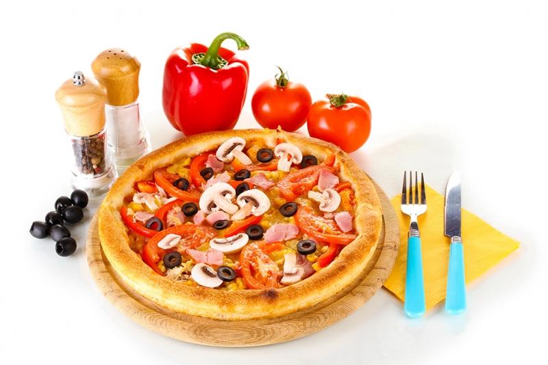 Mantarlı Pizza Lezzetler Kanvas Tablo