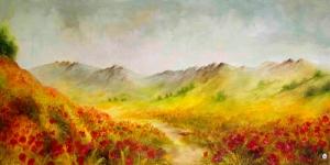 Manzara 1 Gelincikler Dekoratif Kanvas Tablo