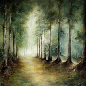 Manzara 3, Orman Patika Yolu Dekoratif Kanvas Tablo