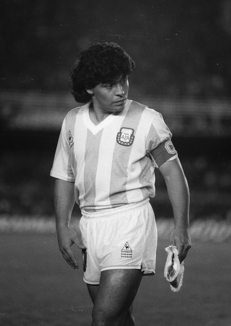 Maradona Nostalji Spor Kanvas Tablo