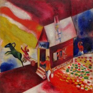Marc Chagall-8 Klasik Sanat Kanvas Tablo