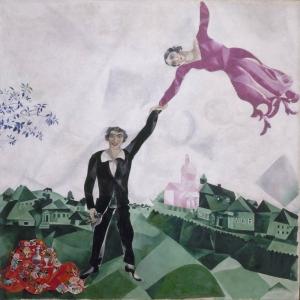 Yürüyüş Marc Chagall The Promenade Klasik Sanat Kanvas Tablo