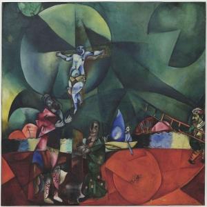 Marc Chagall Calvary Yagli Boya Klasik Sanat Kanvas Tablo