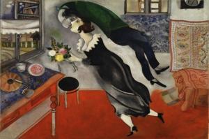 Marc Chagall Dogum Gunu Yagli Boya Klasik Sanat Kanvas Tablo