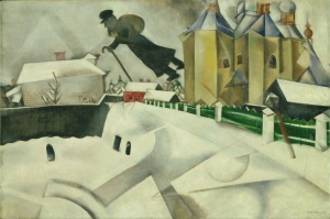 Marc Chagall Over Vitebsk Yagli Boya Klasik Sanat Kanvas Tablo