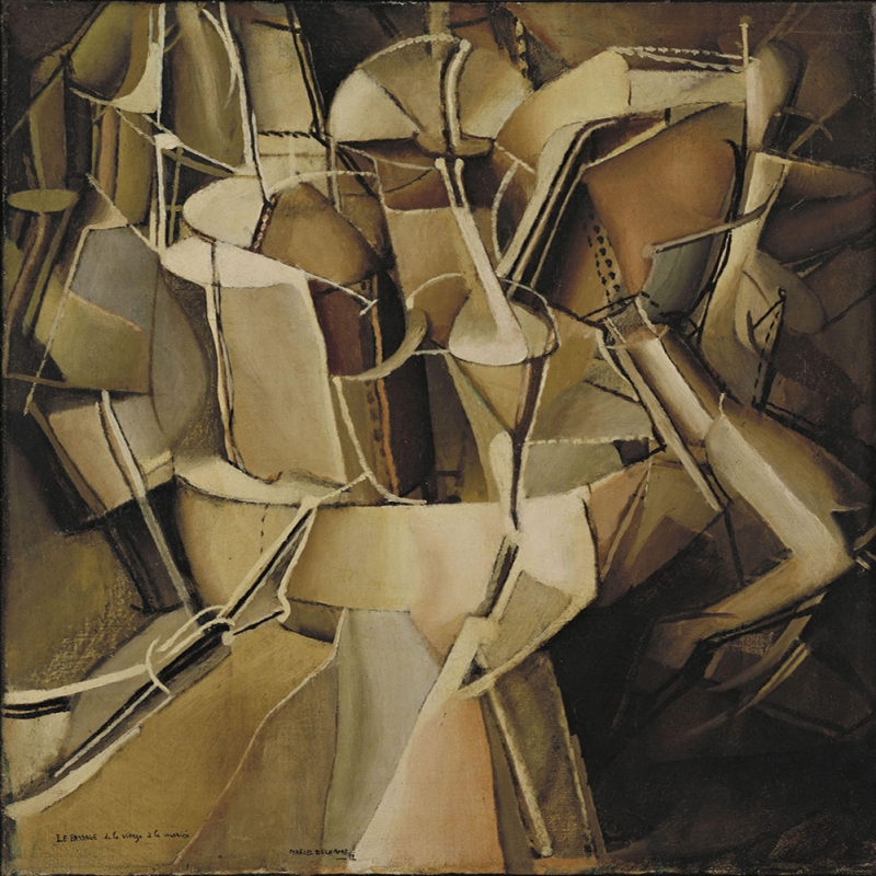 Marcel Duchamp Kizliktan Kadinliga Gecis Yagli Boya Klasik Sanat Kanvas Tablo