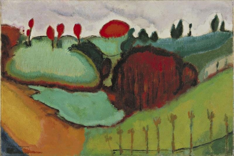 Marcel Duchamp Yeryuzu Yagli Boya Klasik Sanat Kanvas Tablo