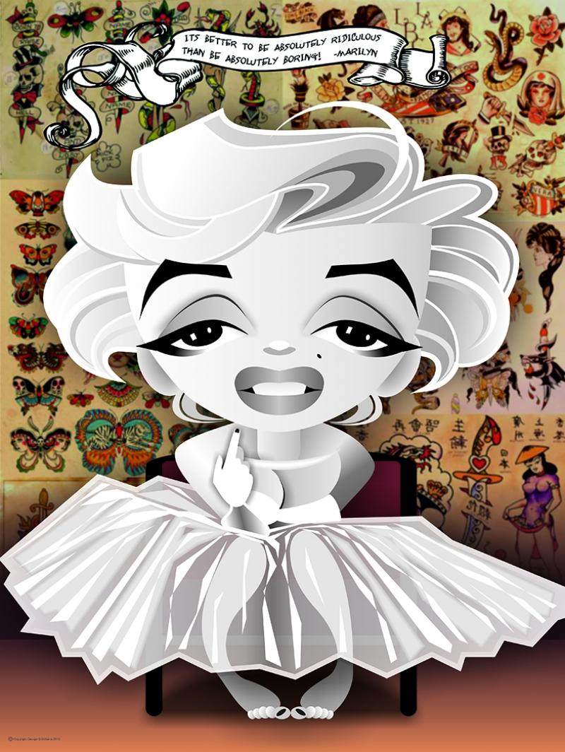 Marilny Monroe Popüler Çizim Kanvas Tabla