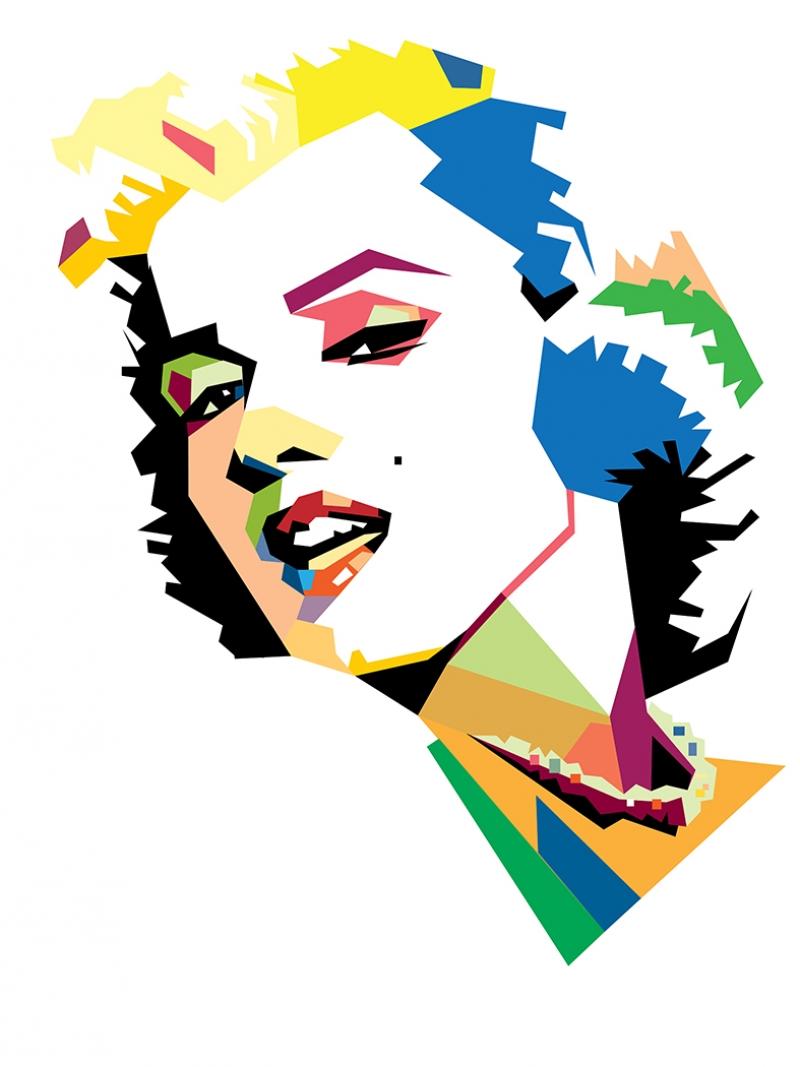 Marilny Monroe Renkli Popüler Kültür Kanvas Tablo