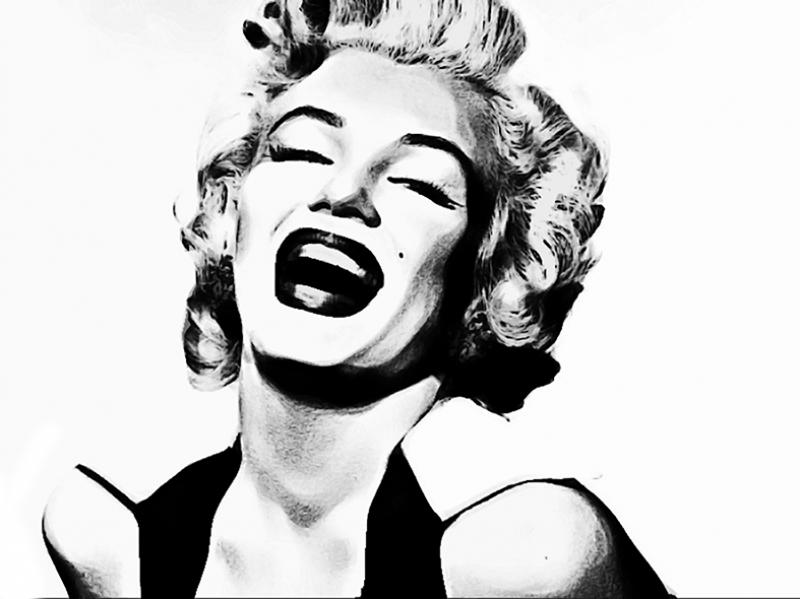 Marilny Monroe Siyah Beyaz Popüler Kültür Kanvas Tablo