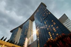 Marina Bay Sands Singapore Şehir Manzarası Dünyaca Ünlü Şehirler Kanvas Tablo