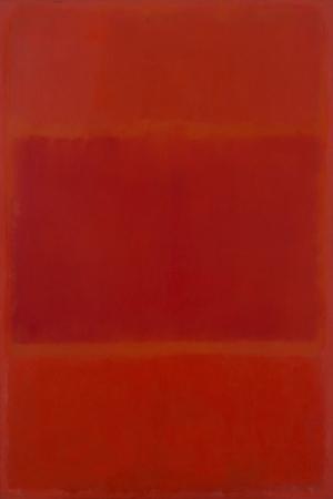 Mark Rothko 3 Kirmizi ve Turuncu Yagli Boya Klasik Sanat Kanvas Tablo