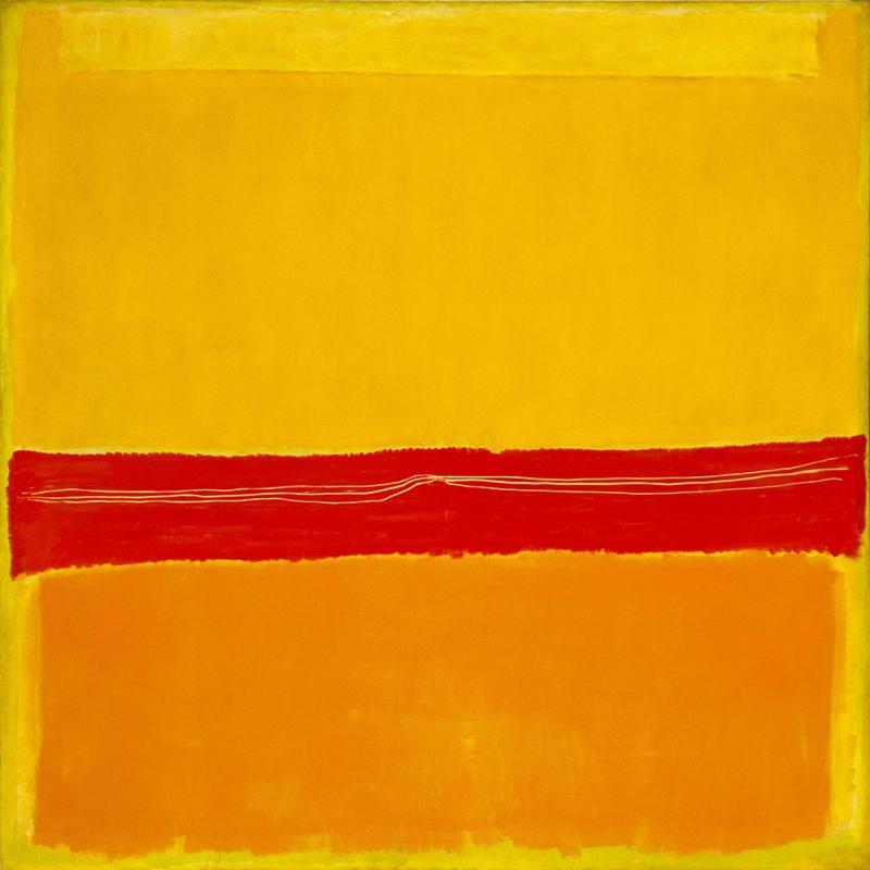Mark Rothko 5 Yagli Boya Klasik Sanat Kanvas Tablo