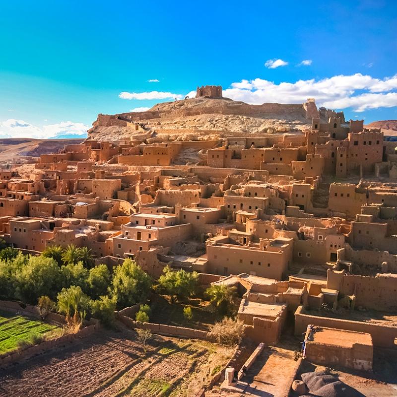 Marrakech Manzarası Doğa Manzaraları Kanvas Tablo