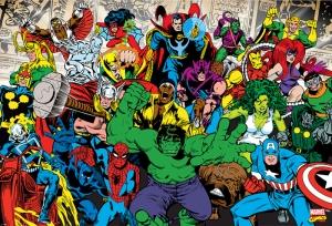 Marvel Karakterleri 2 Süper Kahramanlar Kanvas Tablo