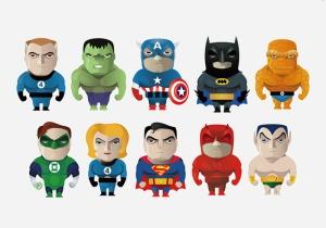 Marvel Karakterleri Süper Kahramanlar Kanvas Tablo