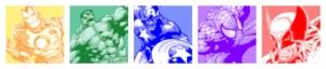 Marvel Süper Kahraman Panaroma Panaromik Popüler Kültür Kanvas Tablo