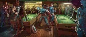 Marvel Süper Kahramanlar Çizgi Film Kanvas Tablo
