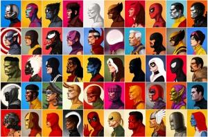 Marvel Tüm Süper Kahramanlar Kanvas Tablo