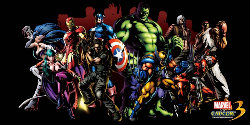 Marvel vs Capcom Süper Kahramanlar Kanvas Tablo