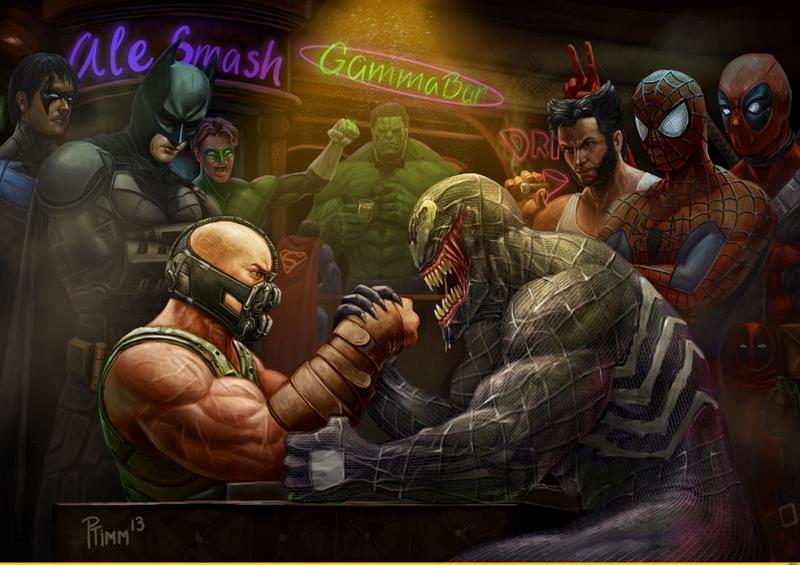 Marvel vs DC Sinema Kanvas Tablo