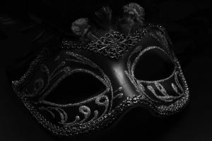 Maske Siyah Beyaz Fotoğraf Kanvas Tablo