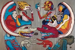 Maskeli Parti Dijital Fantastik Kanvas Tablo
