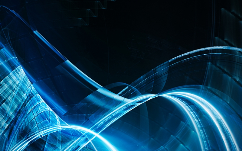 Mavi Abstract Dijital ve Fantastik Kanvas Tablo
