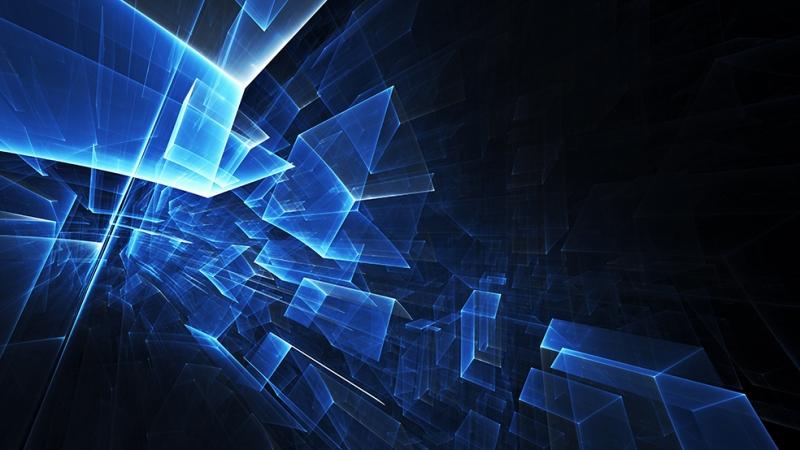 Mavi Arka Plan Dijital ve Fantastik Kanvas Tablo