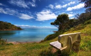 Mavi Gökyüzü ve Huzur Doğa Manzaraları Kanvas Tablo